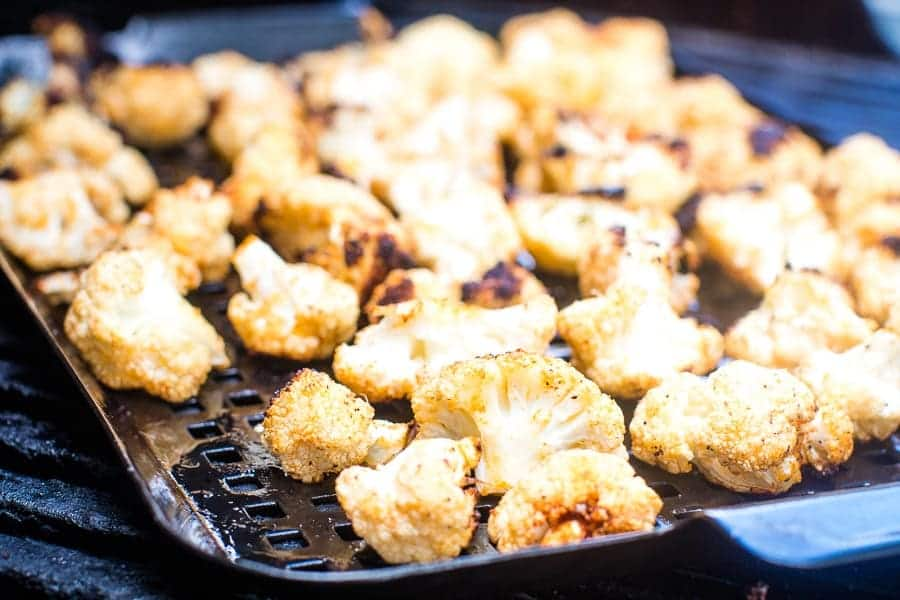 Grilled Cauliflower on grill pan
