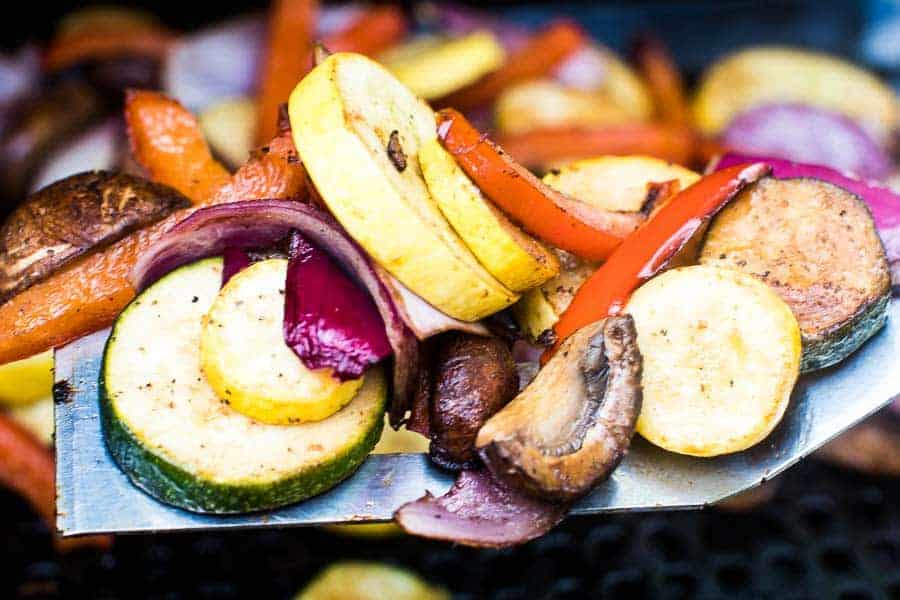 Grilled Vegetables Recipe on spatula