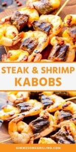 steak and shrimp kabobs Pins