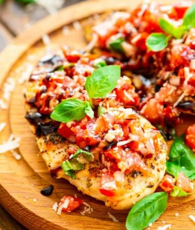 Bruschetta Chicken on board
