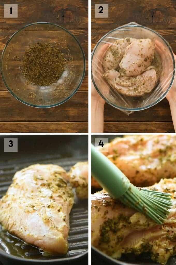 greek chicken marinade Collage