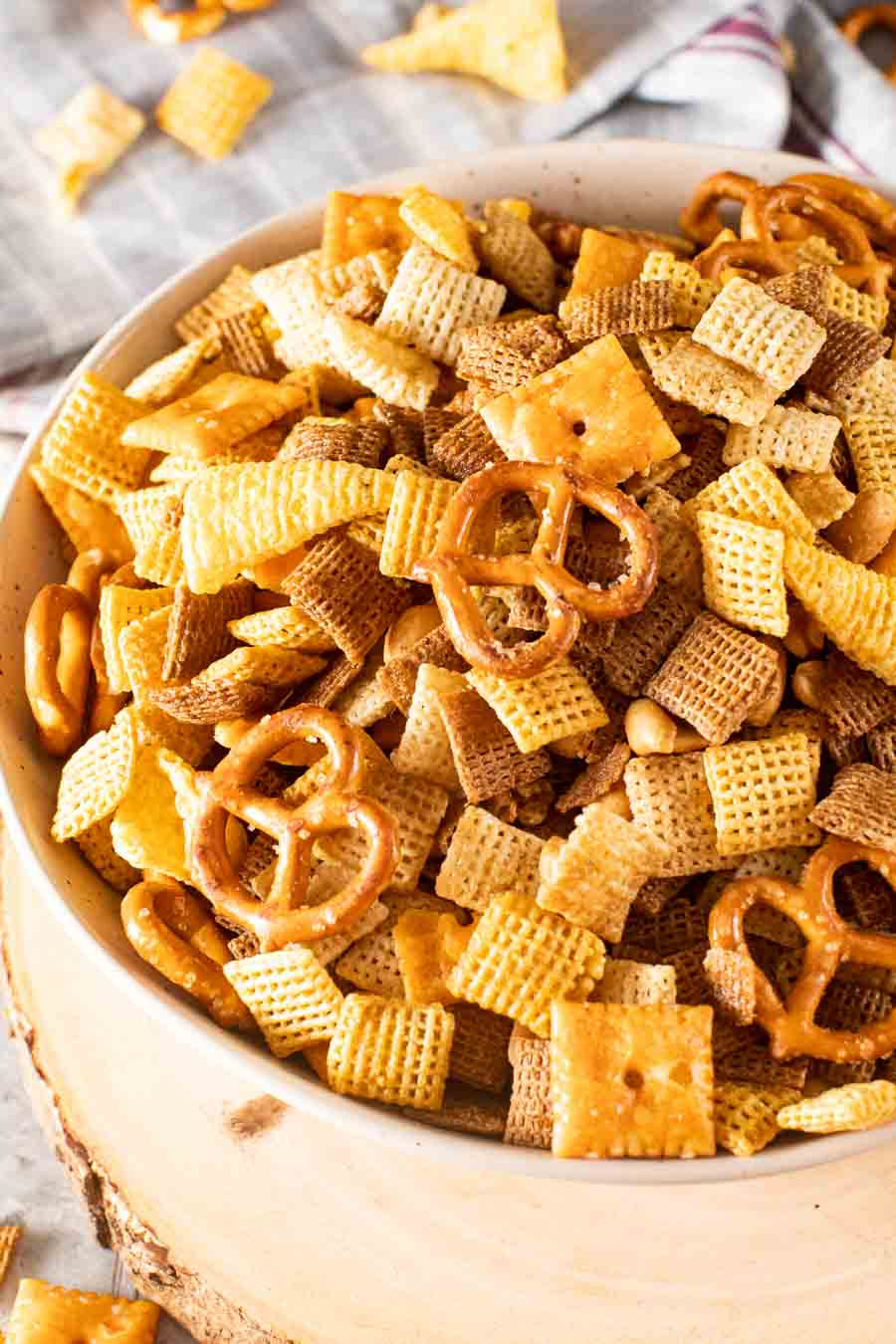 Bowl of Smoked Snack Mix