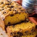 Chocolate Chip Pumpkin Bread Slices