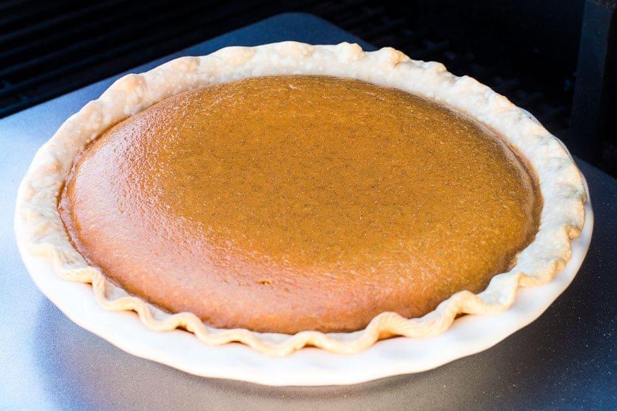 Pumpkin Pie on Traeger
