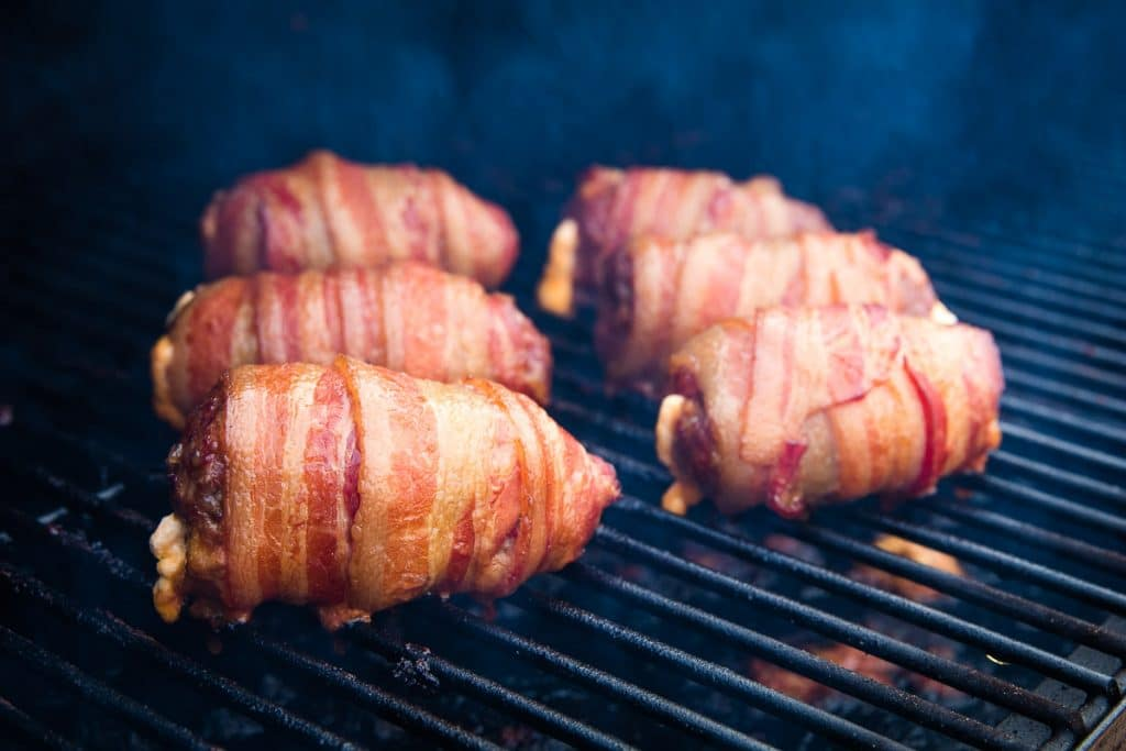 Armadillo Eggs on Smoker grates