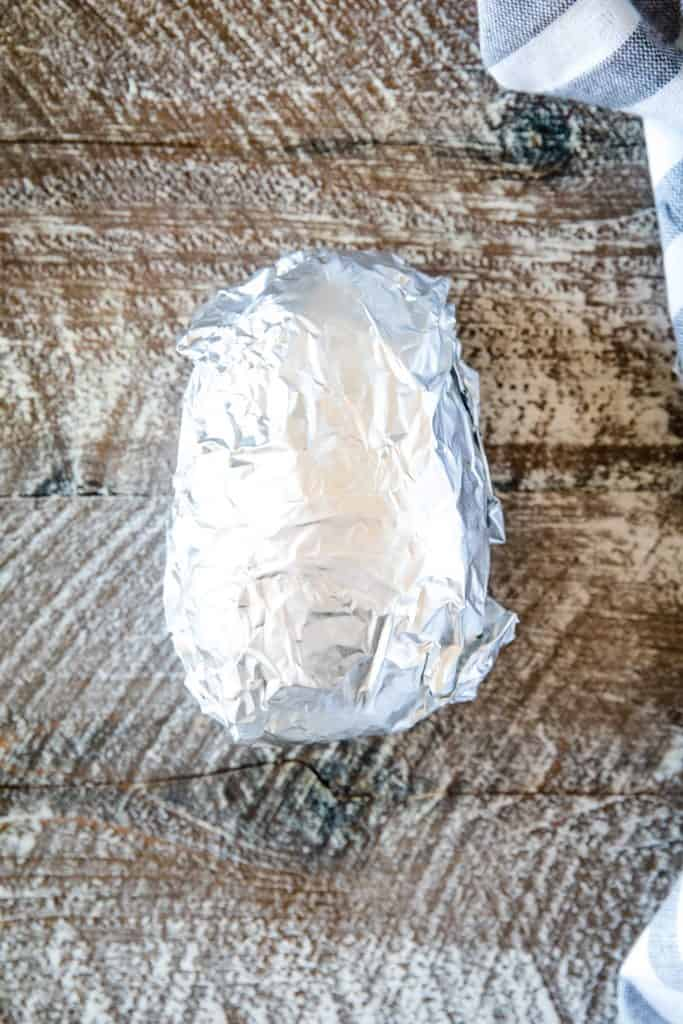 Foil wrapped potato