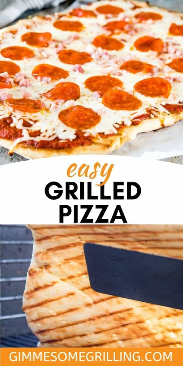 Wondering how to grill a pizza? Tips and Tricks to get the perfect crust that's chewy on the inside, yet crispy on the outside. It's the perfect summer dinner that doesn't heat up your kitchen. Make a Grilled Pizza for dinner! #pizza #grill via @gimmesomegrilling