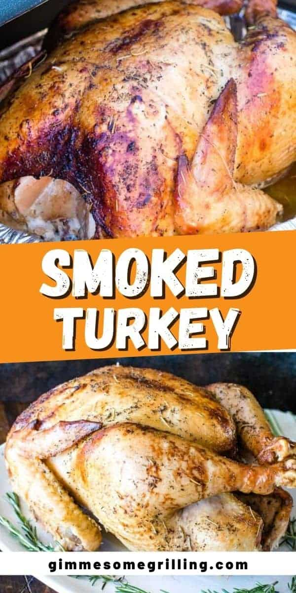 It's the holidays and your holiday is not complete with this amazing Smoked Turkey! It's so juicy, full of flavor and easy. Simply brine the turkey overnight, then add butter, seasoning and oil to the turkey and pop it on your smoker the next day. The result is the perfect smoked turkey for your Thanksgiving Dinner! via @gimmesomegrilling