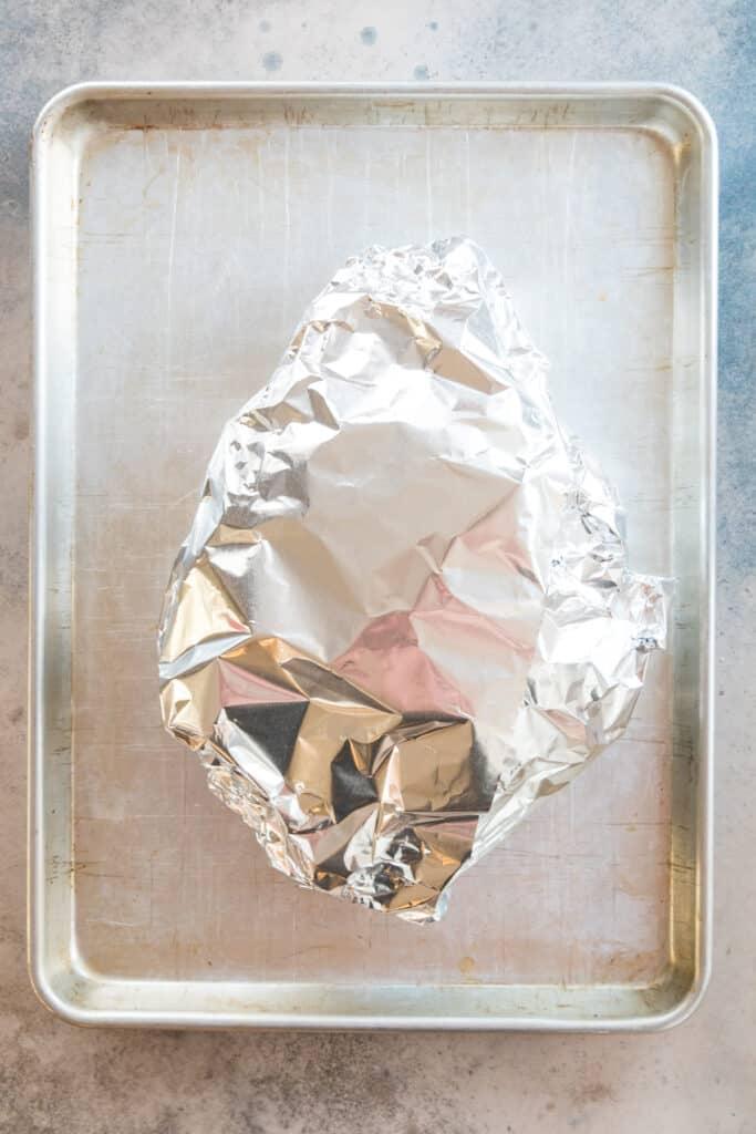 Pork Shoulder wrapped in foil