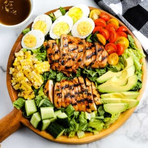 Grilled Chicken Salad Recipe Square Cropped image