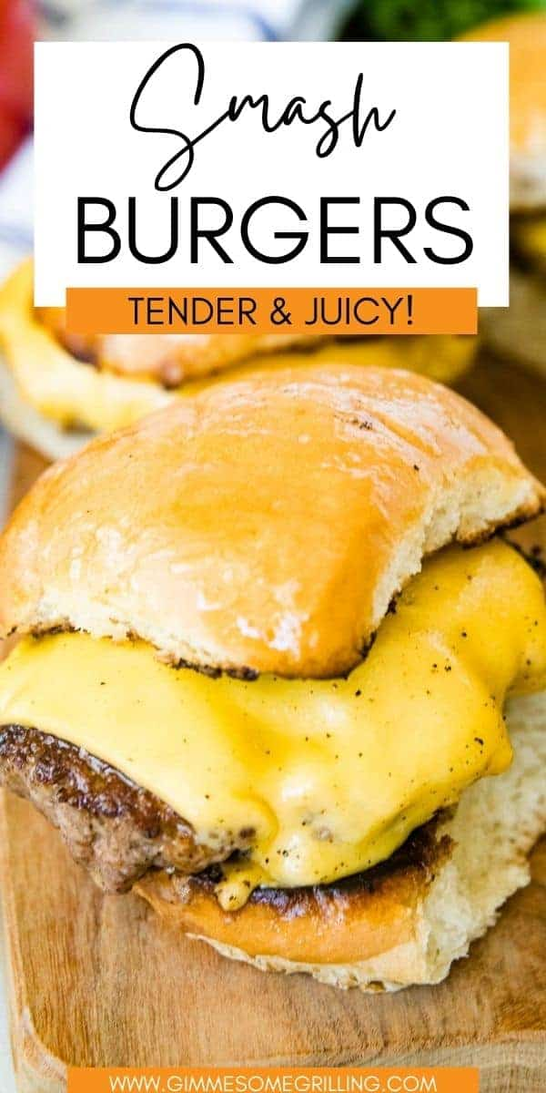 Homemade Smash Burgers are so easy to make with a ton of flavor! You can make them on your Blackstone Griddle or cast iron skillet. So much flavor and ready in less than 20 minutes! via @gimmesomegrilling