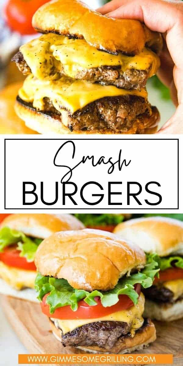 Learn how to make the best homemade smash burgers. These burgers are so simple to make and have an amazing flavor. All we use is butter, ground beef and our favorite beef seasoning. Top them with a slice of melted cheese and pile them on a toasted bun. Optional toppings can be lettuce, tomatoes and fried onion! via @gimmesomegrilling