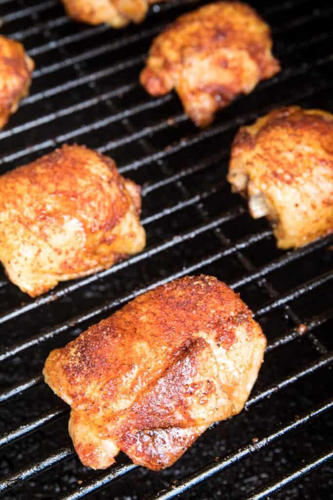 Smoked Chicken Thighs on smoker