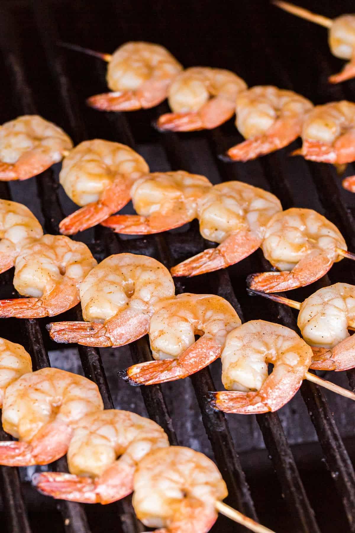 Shrimp Kabobs on a grilllll
